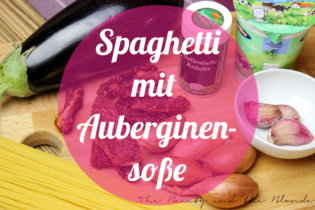 Spaghetti mit Auberginensoße