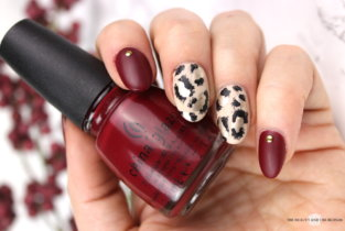 Leopard Nailart & China Glaze City Siren