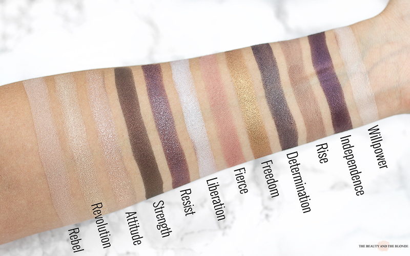 LOV The Matte x Metallic Eyeshadow Lidschatten Palette Drogerie Swatches