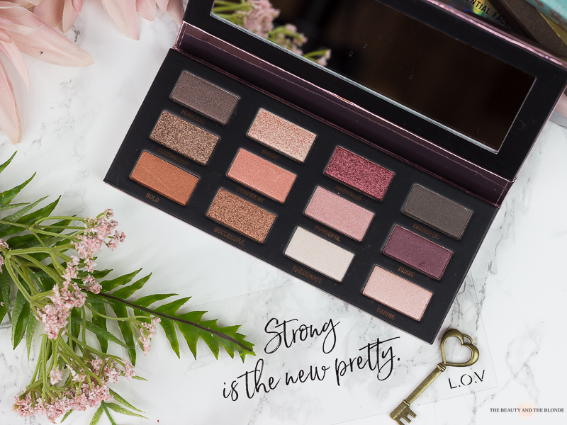 L.O.V The Rose X Copper Eyeshadow Palette Review Drogerie