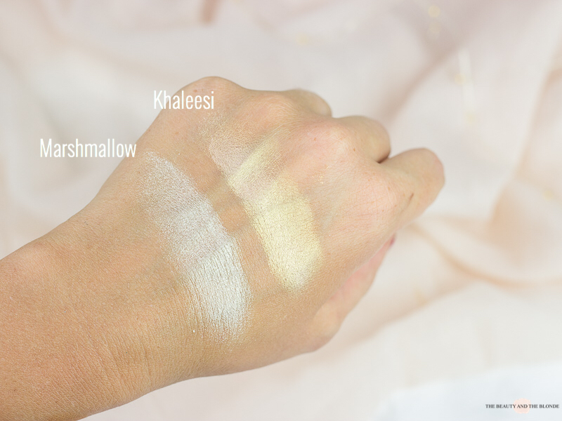 Kisu Palette Makeup Revolution Highlighter Swatches