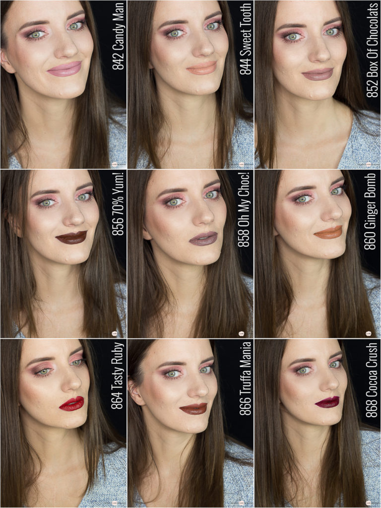 L'Oréal Les Chocolats Ultra Matte Liquid Lipsticks Review Tragebilder Swatches Drogerie