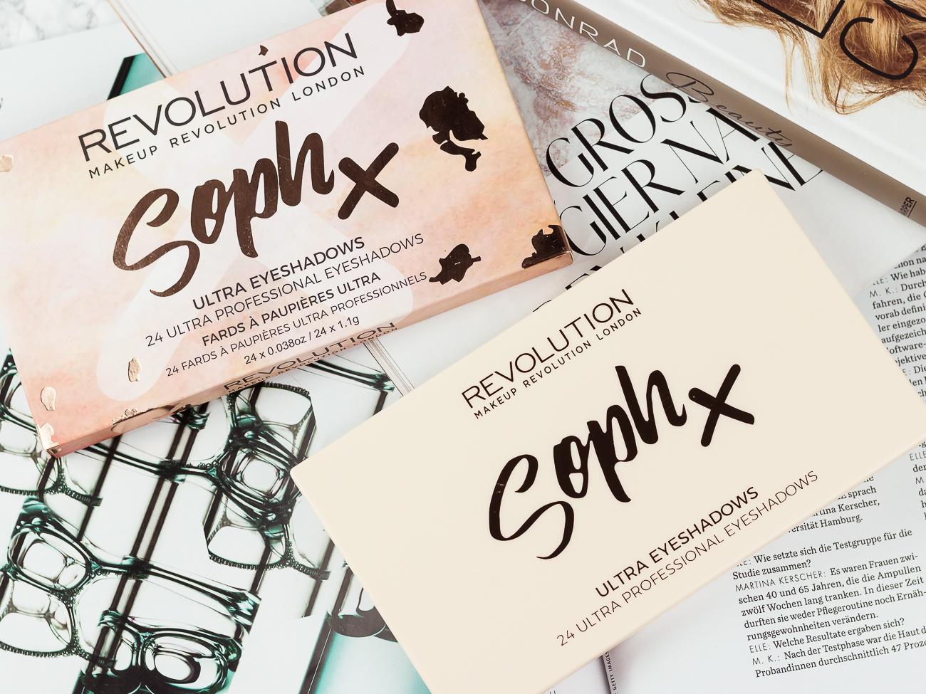 Makeup Revolution x Soph Palette Lidschatten Drogerie Review