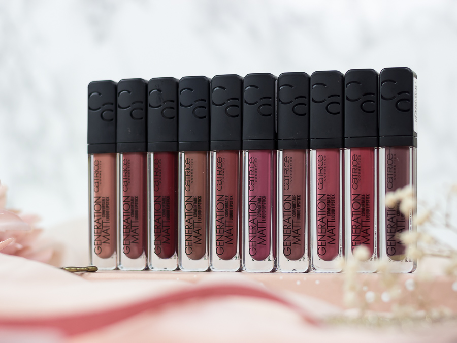 Catrice Sortimentsupdate 2019 Generation Matt Liquid Lipsticks Shaderange Review Erfahrungen