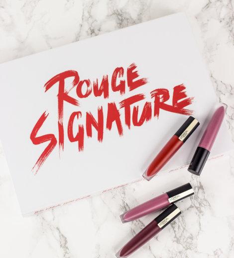 L'Oréal Rouge Signature </br> Flüssige Lippenstifte mit hauchzarter Textur