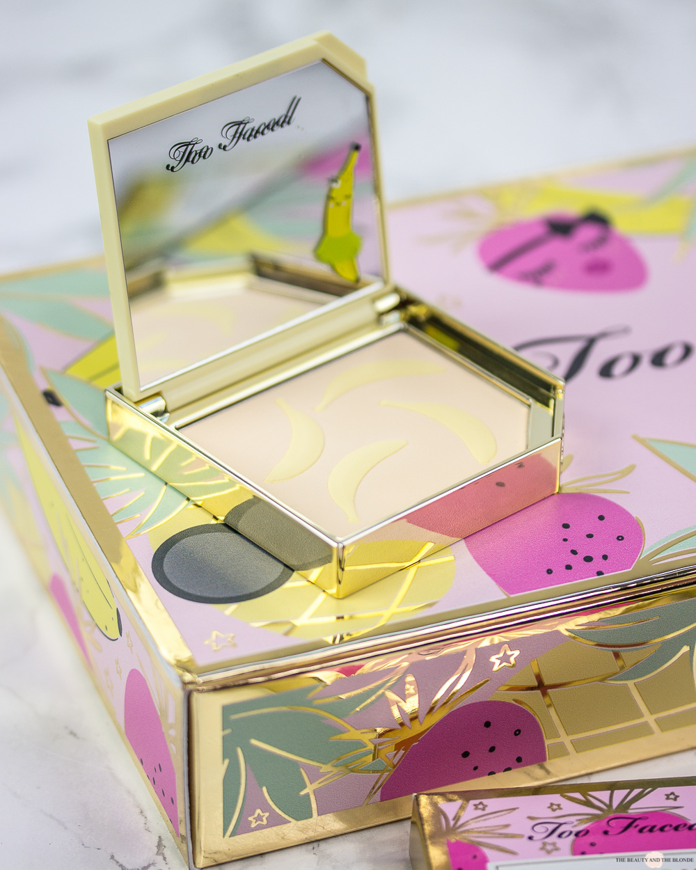 Too Faced Tutti Frutti It's Bananas Setting Powder Review Swatches Blog