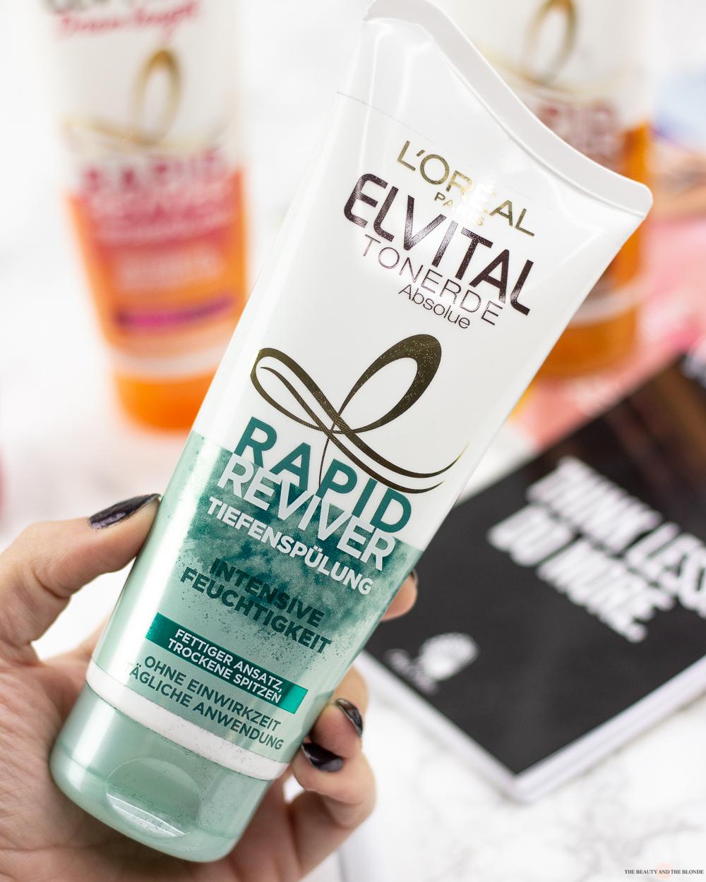 L'Oréal Elvital Rapid Reviver Tiefenspülung Conditioner Spülung Haarpflege Haare Drogerie