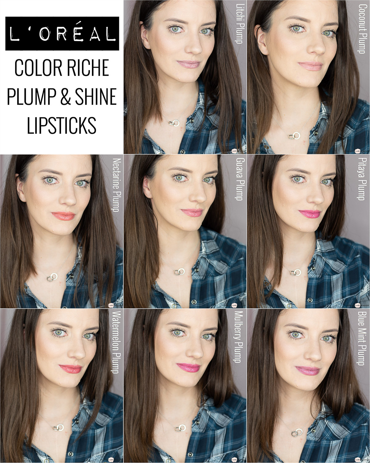 L'Oréal Color Riche Plump & Shine Lippenstift Review Swatches
