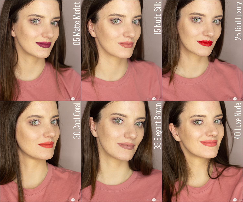 Max Factor Lipfinity Velvet Matte 24hrs Lipsticks Review Drogerie