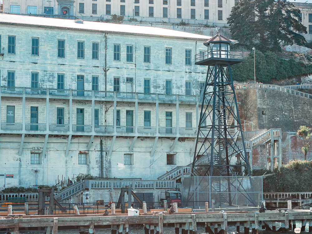 Alcatraz Gefängnis Wohngebäude Wachturm