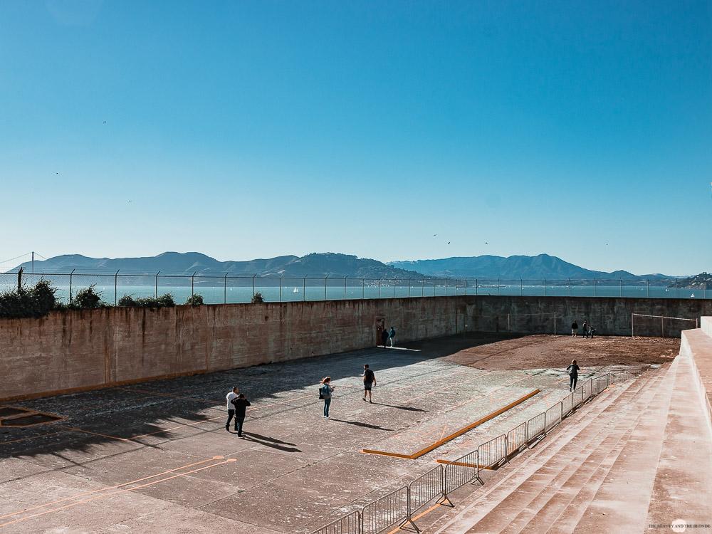 Alcatraz Gefängnis Hof