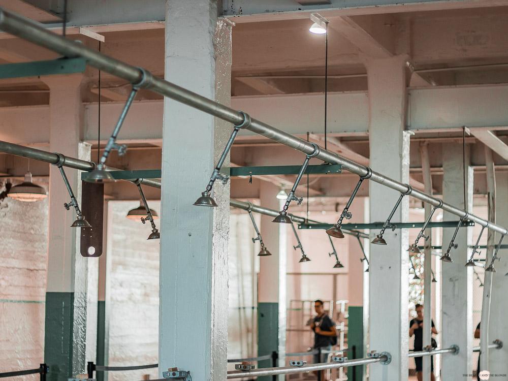 Alcatraz Gefängnis Duschen