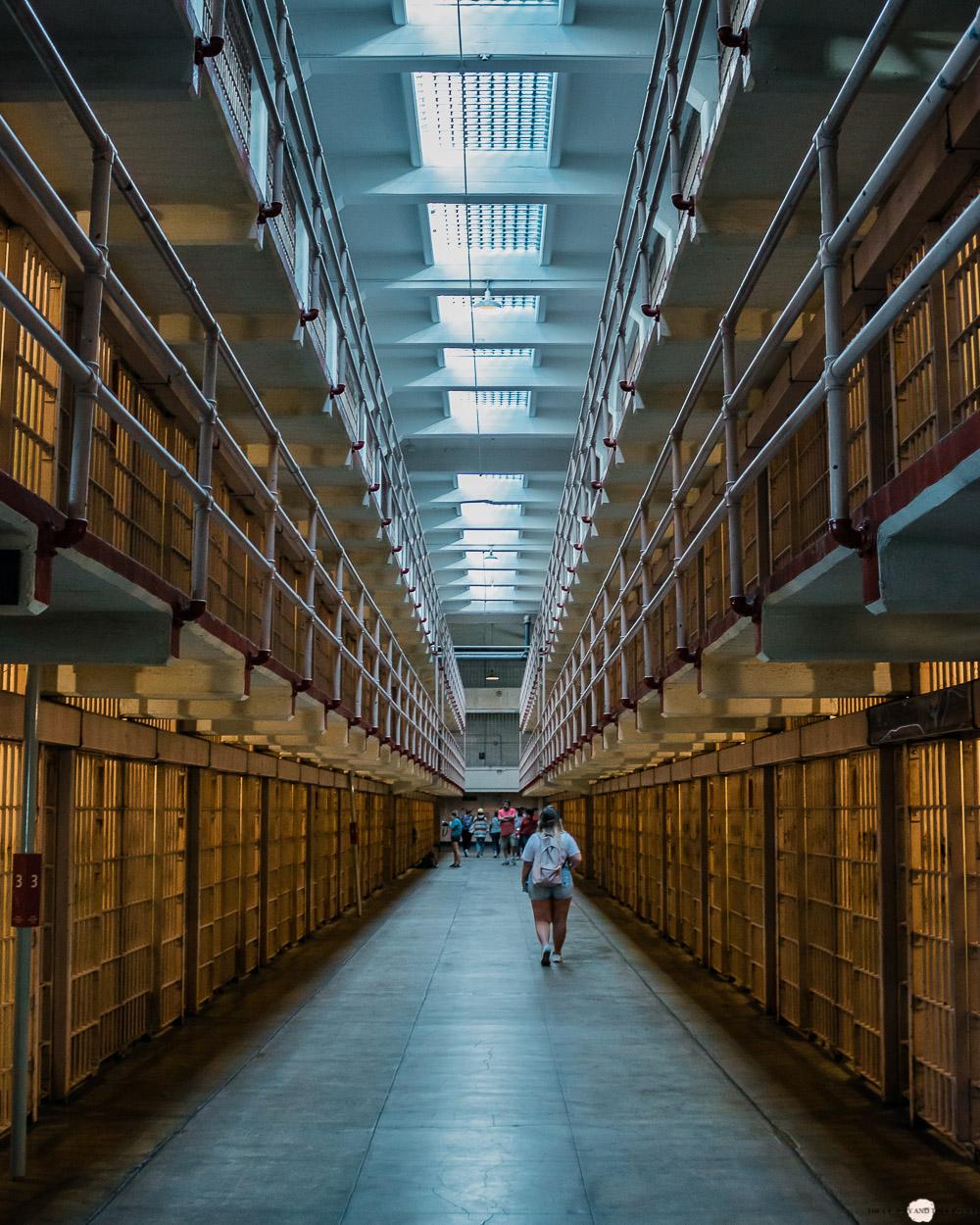 Alcatraz Gefängnis Zellenblock Broadway