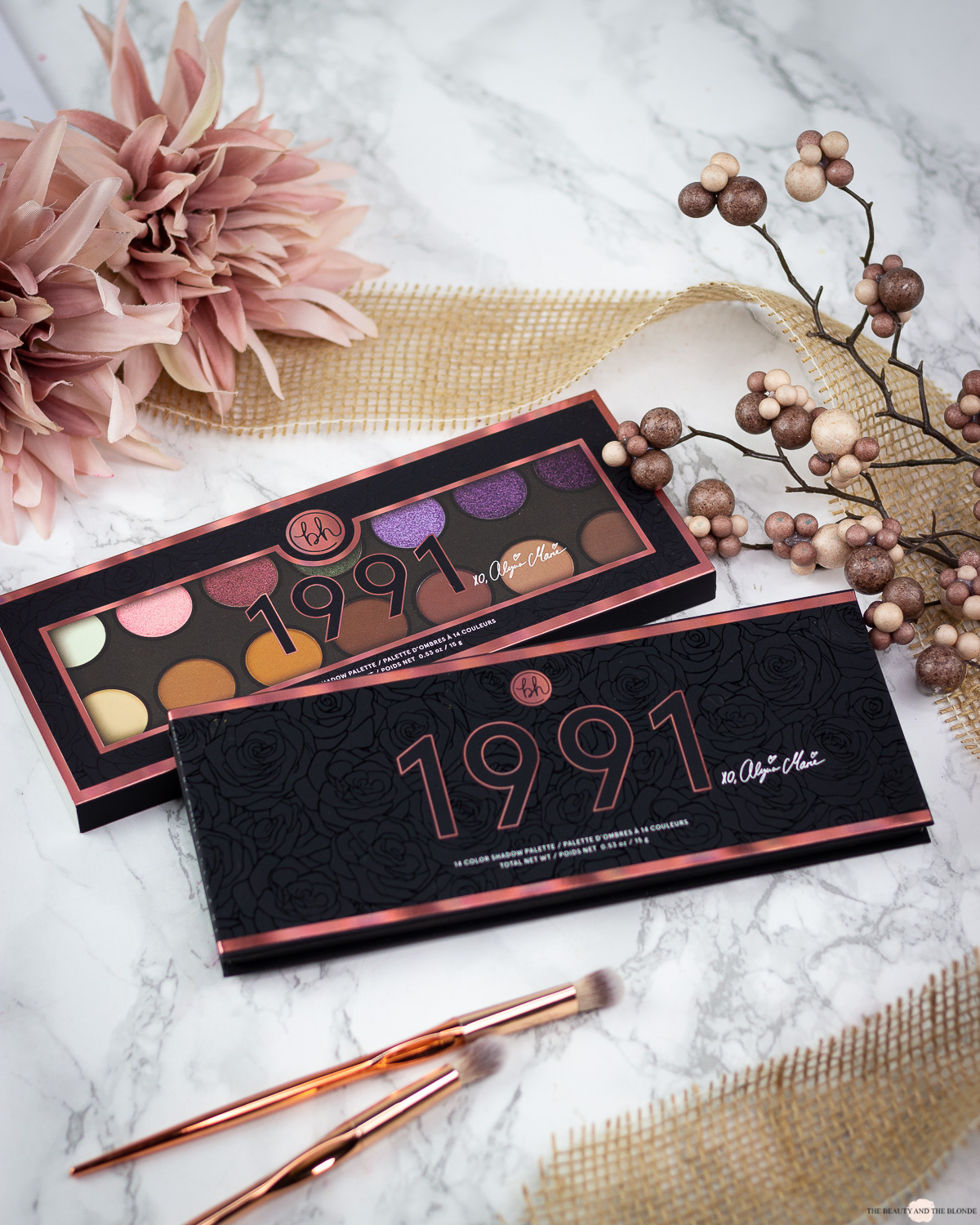 bh Cosmetics Alycia Marie 1991 Palette Review Swatches