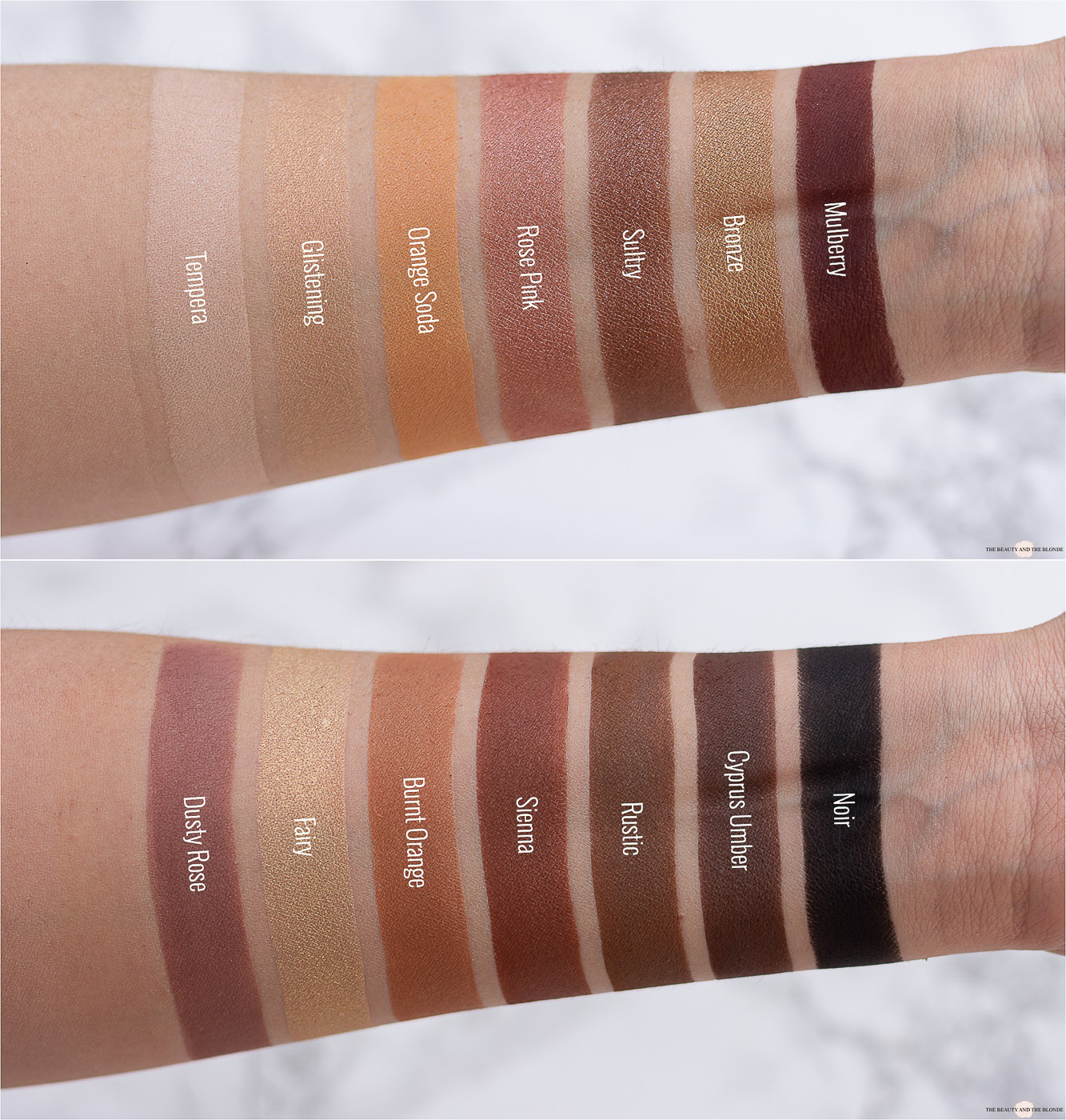 Anastasia Beverly Hills ABH Soft Glam Palette Swatches