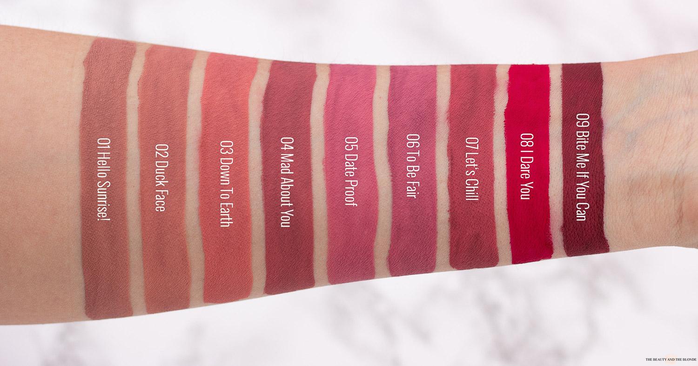 essence Stay 8h Matte Liquid Lipstick Swatches