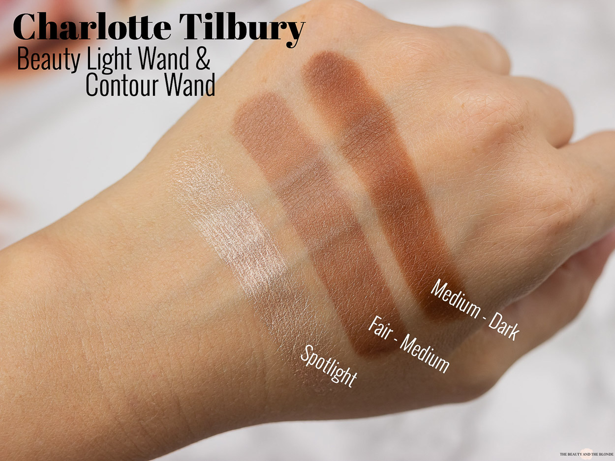 Charlotte Tilbury Beauty Light Contour Wand Swatches