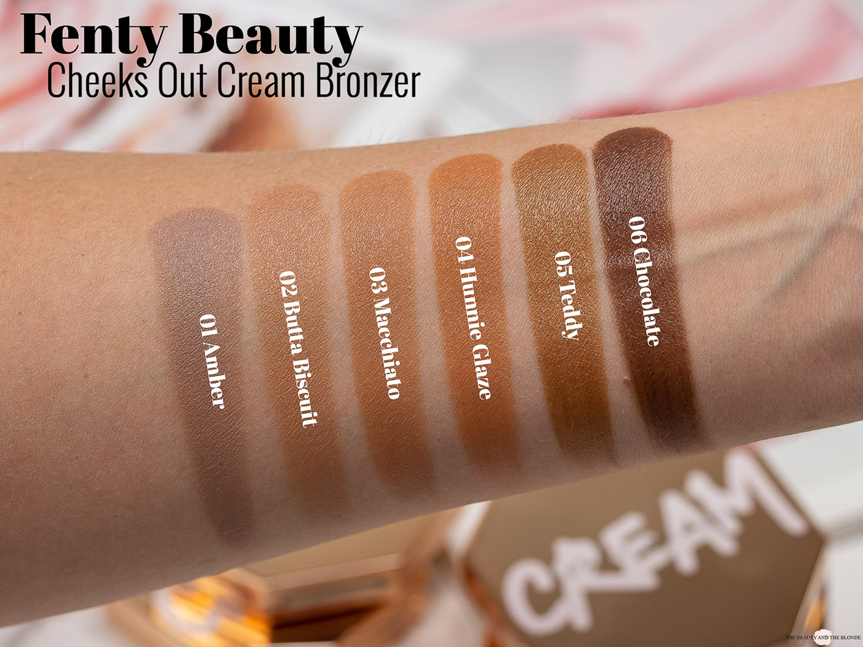 Fenty Beauty Cheeks Out Cream Bronzer Swatches