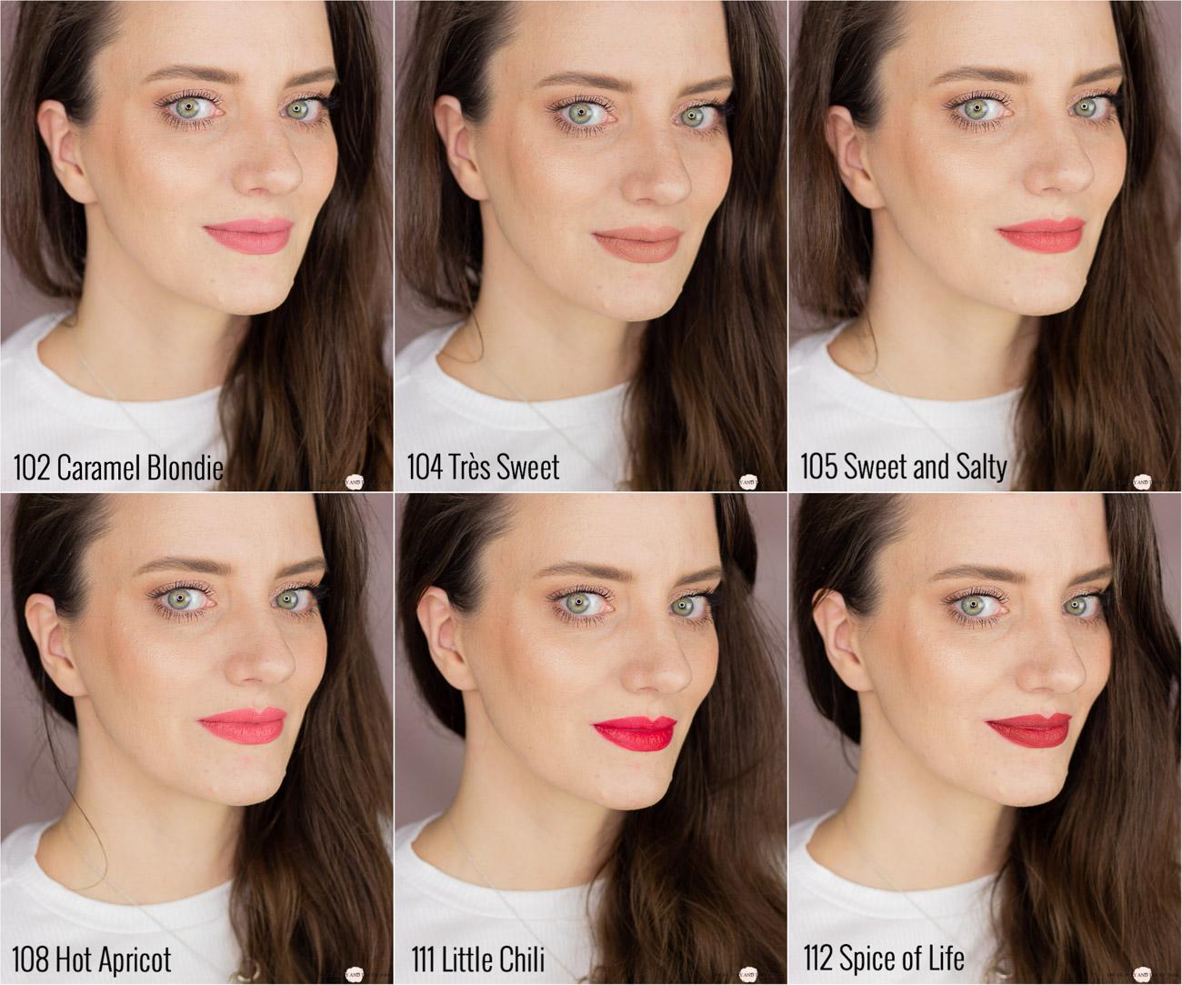 L'Oréal Matte Lip Crayons Swatches