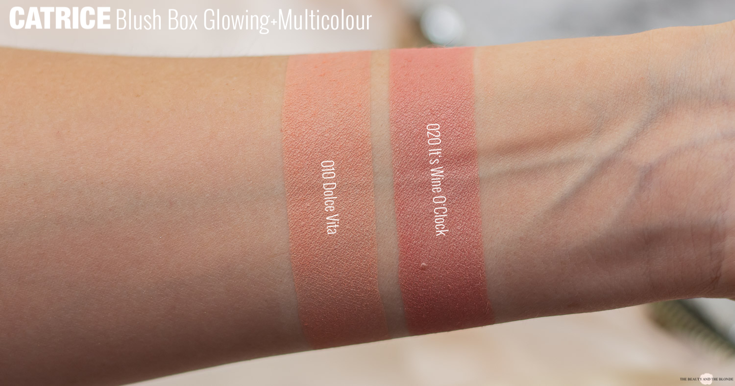 Catrice Blush Box Glowing Multicolour Swatches