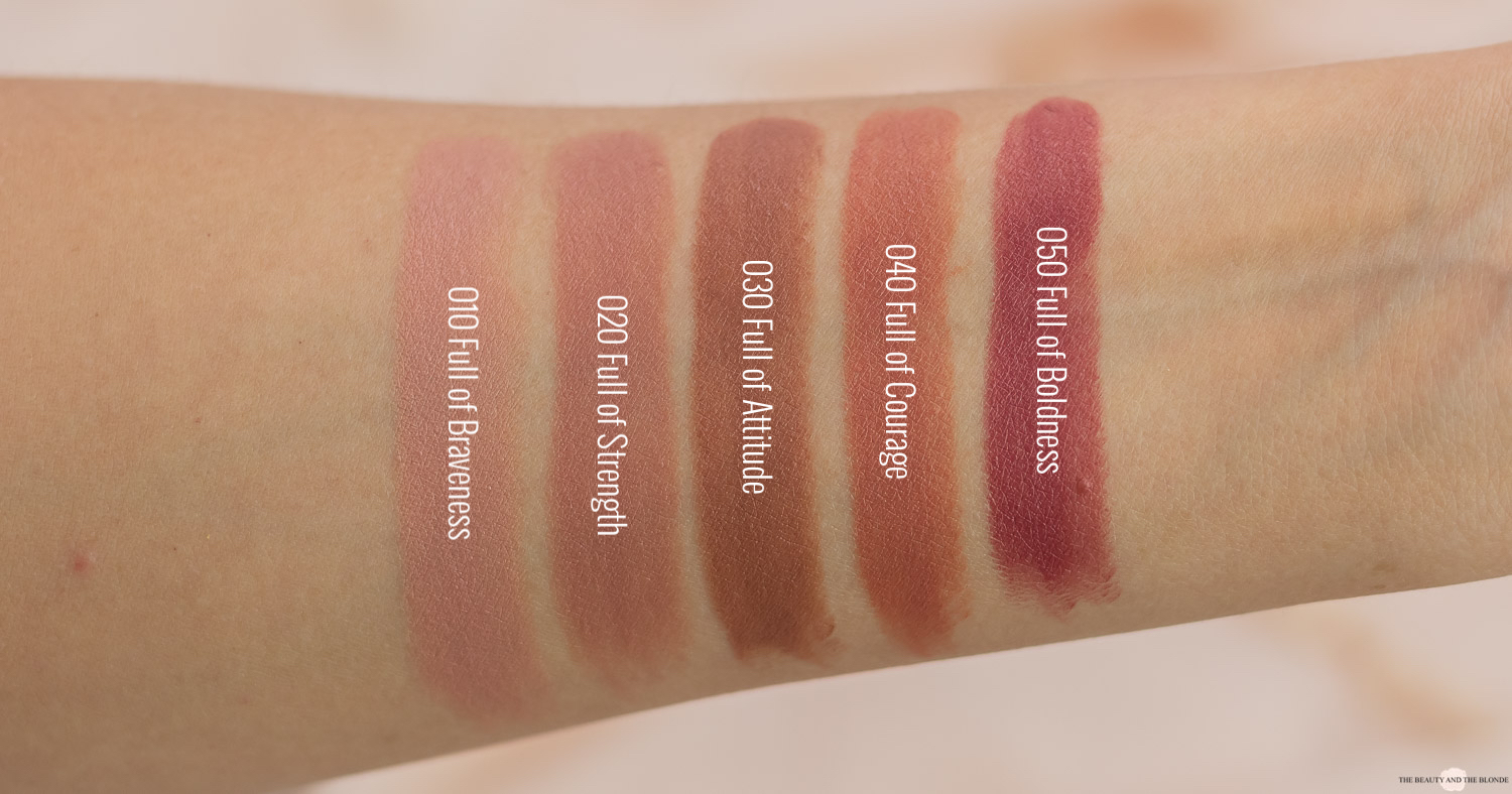 Catrice Full Satin Nude Lipstick Swatches