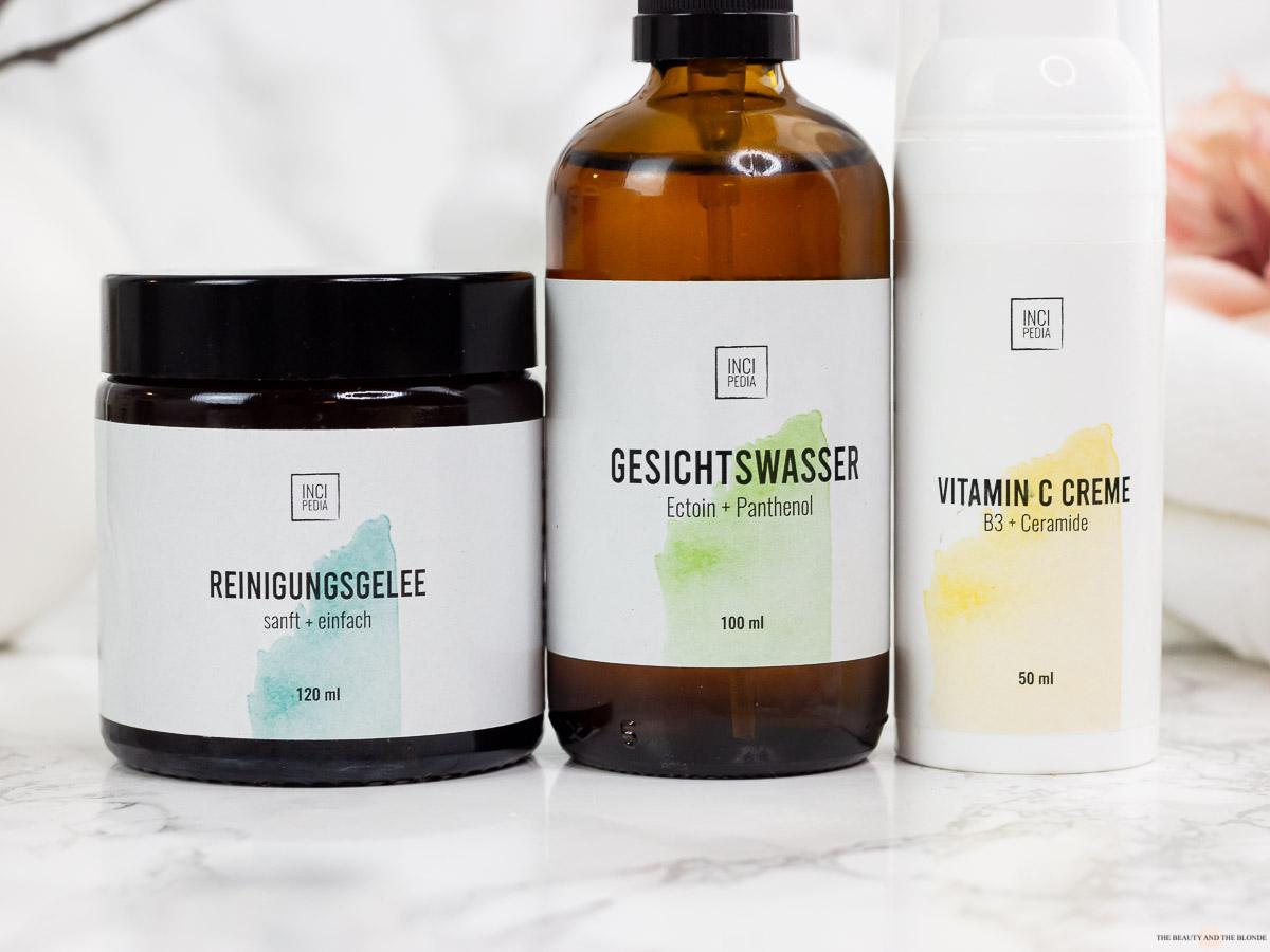 Incipedia Hautpflege Reinigungsgelee Gesichtswasser Creme Review