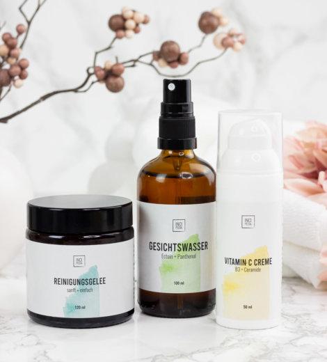 Incipedia </br>Gesichtswasser, Reinigungsgelee und Vitamin C Creme