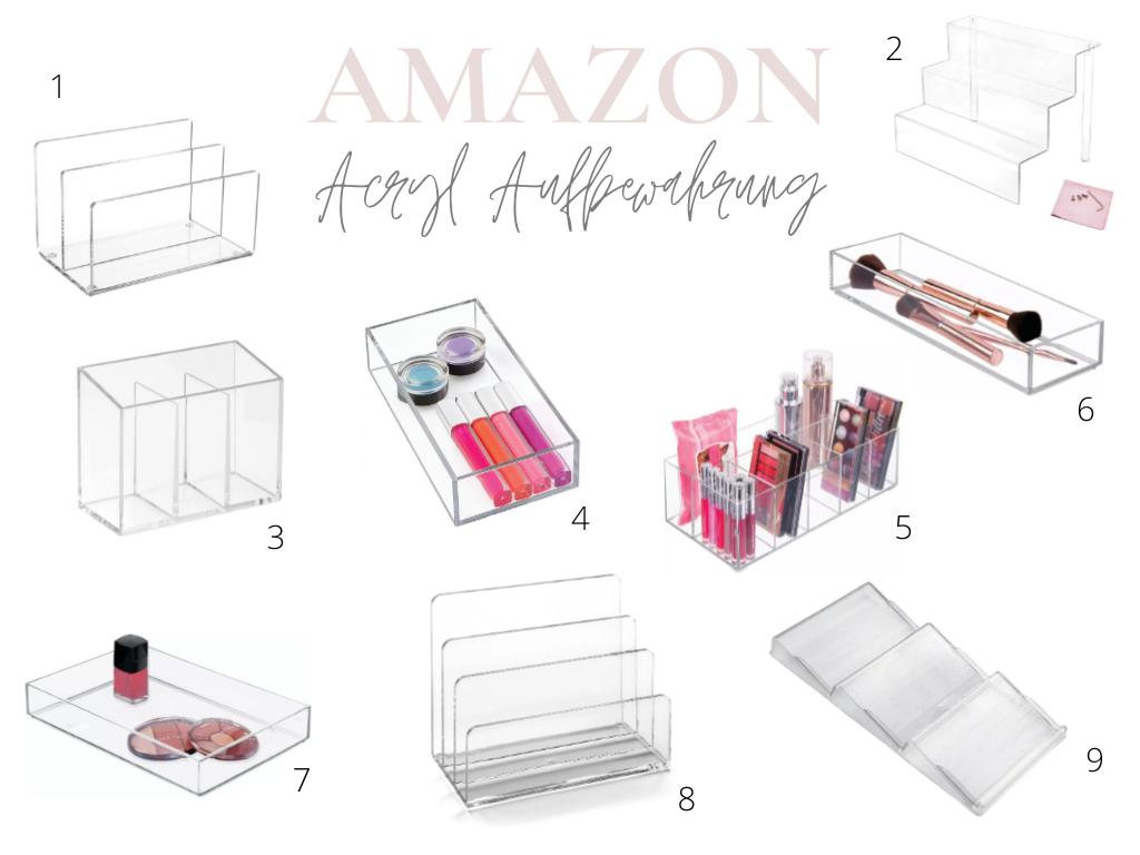 Amazon Acryl Makeup Aufbewahrung